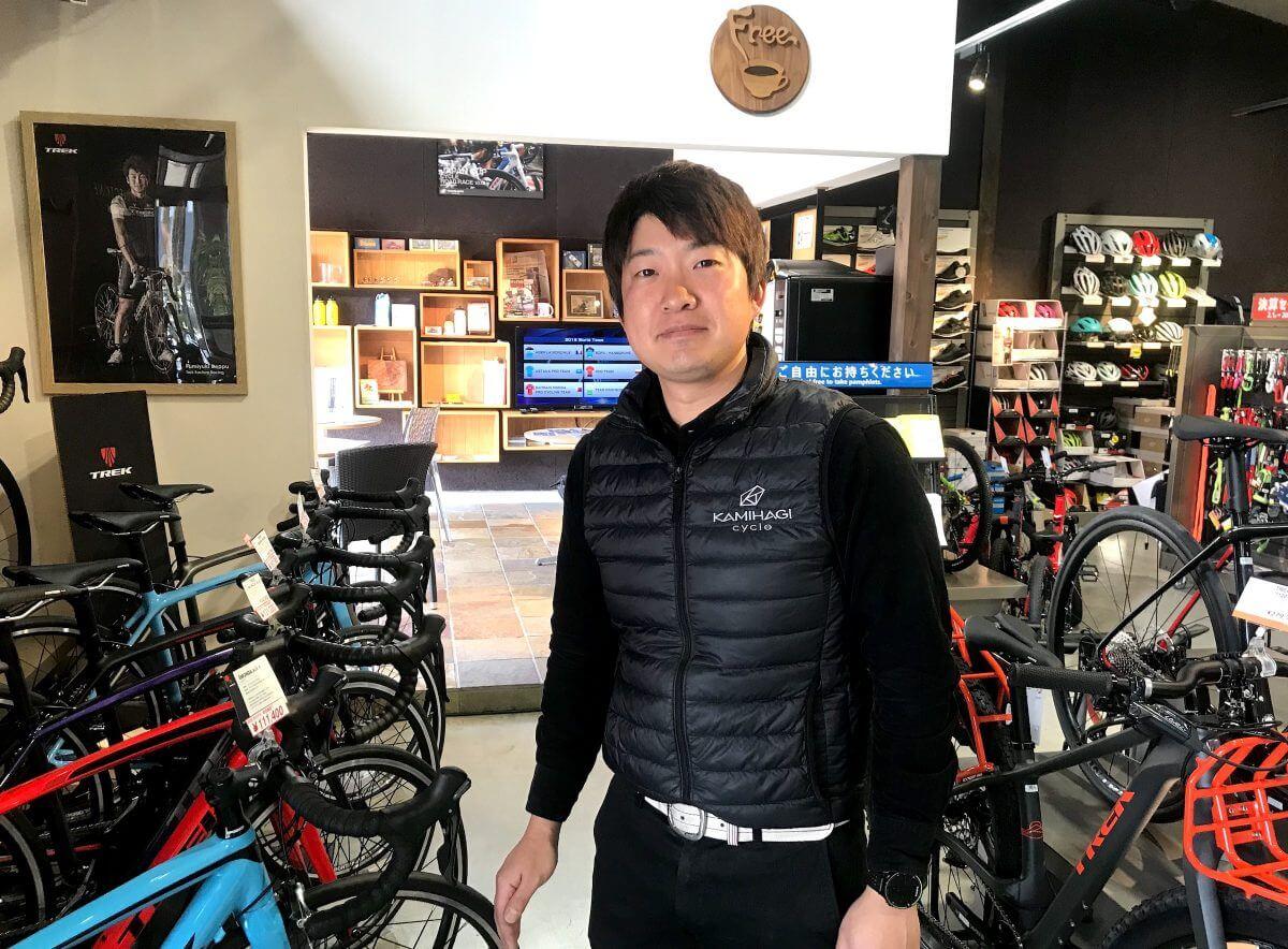 カミハギサイクル緑店スタッフ秋元さん