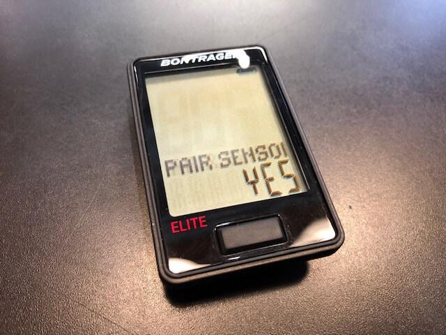 Paring sensors 画面