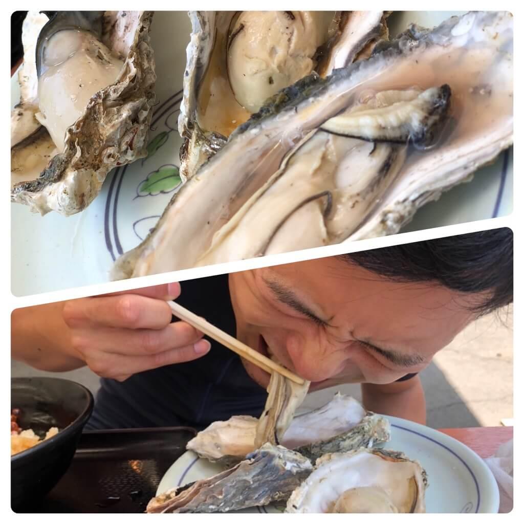 焼きたて激アツの牡蠣