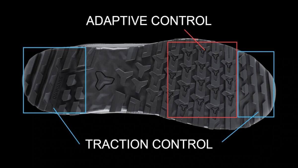 ソールのブロックパターン