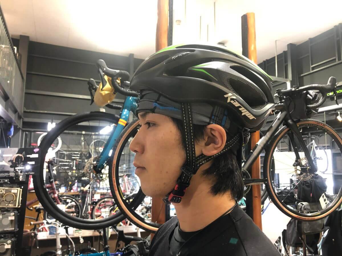 サハリン型ヘルメット装着時